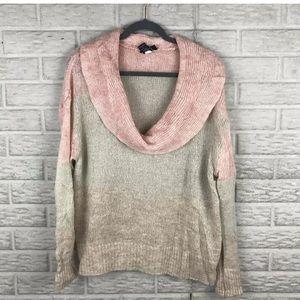 Lane Bryant Open Knit Cowl Neck Sweater